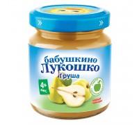 Пюре Бабушкино Лукошко груша100 г 4+ мес