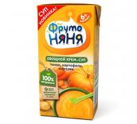 Суп пюре ФрутоНяня тыква-картофель-морковь 200г с 6месяцев