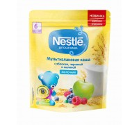 Каша молочная Nestle мультизлаковая с яблоком, черникой и малиной 220 г 6 мес +