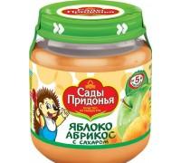Сады Придонья пюре яблоко-абрикос с сахаром, 120 г