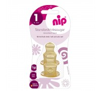 Nip Соска для бутылочки, латекс , размер 1 (0-6 мес), 2 шт
