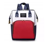 Сумка рюкзак для мам красный/синий/белый