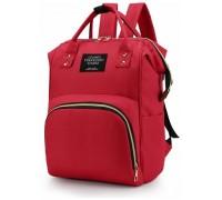 Сумка рюкзак для мам красный