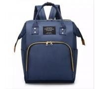 Сумка рюкзак для мам синий