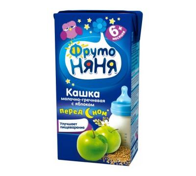 Кашка детская молочно–гречневая с яблоками Фрутоняня 200 мл