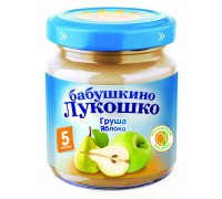 Пюре Бабушкино Лукошко груша-яблоко 100 г 5+ мес