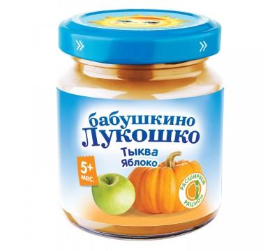 Пюре Бабушкино Лукошко тыква-яблоко 100 г 5+ мес