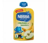 Пюре яблоко и банан Nestle 90гр с 6 месяцев