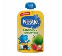 Пюре яблоко и клубника Nestle 90гр с 6 месяцев