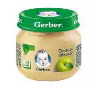 Пюре из яблоко Gerber 80гр с 4 месяцев