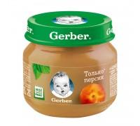 Пюре персик Gerber 80гр с 4 месяцев