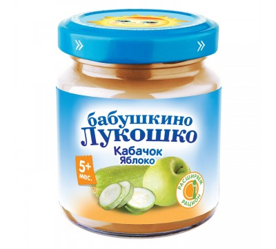 Пюре Бабушкино Лукошко кабачок-морковь-молоко 100 г 5+ мес