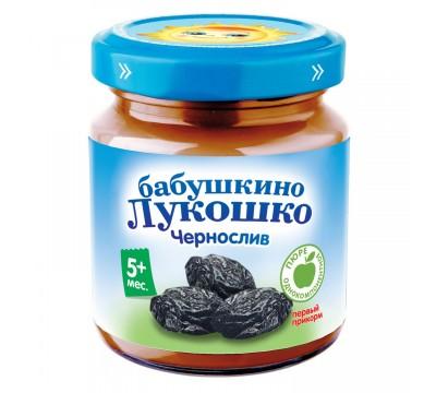 Пюре Бабушкино Лукошко чернослив-творог 100 г 5+ мес