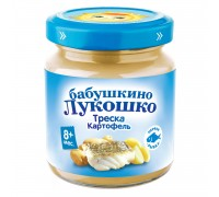 Пюре Бабушкино Лукошко треска-картофель 100 г 8+ мес