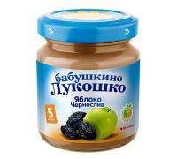 Пюре Бабушкино Лукошко яблоко-чернослив 100 г 5+ мес
