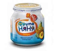 Пюре ФрутоНяня Фруктовый салатик из  яблок, груш и персика 100 гр