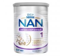 Cухая молочная смесь NAN 1 гипоаллергенный, с рождения, 400 г
