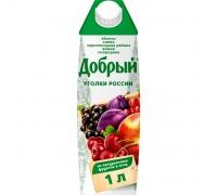 Сок Добрый яблоко, слива, черноплодная рябина, вишня, смородина 1 л с 3х лет