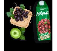 Сок Добрый яблоко, черноплодная рябина, вишня 1 л с 3х лет