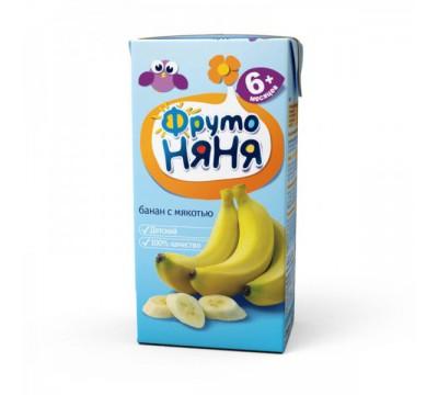 Нектар ФрутоНяня банановый с мякотью 0.2 л