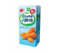 Сок  ФрутоНяня из моркови с мякотью 0.2 л 4+