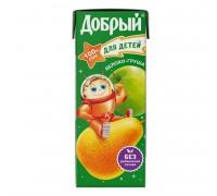 Сок Добрый яблоко-груша 0.2л с 5 месяцев