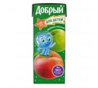 Сок Добрый яблоко-персик 0.2л с 5 месяцев