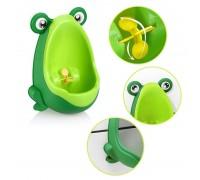Писсуар для мальчиков на присоске Лягушка Зеленый съемная чаша