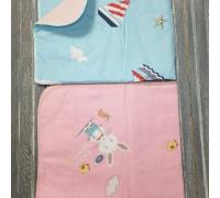 Пелёнка детская на непромокаемой основе  цвет микс 63*76 см